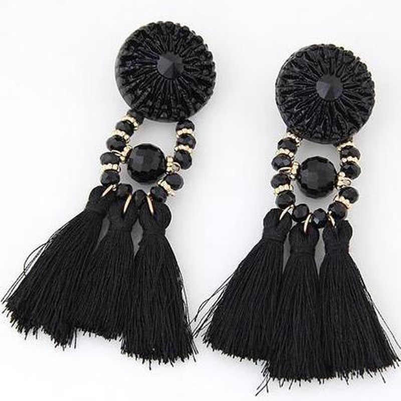 Brincos Women Brand Boho Drop Dangle Fringe Earring Vintage ethnic Statement tassel earrings fashion jewelry