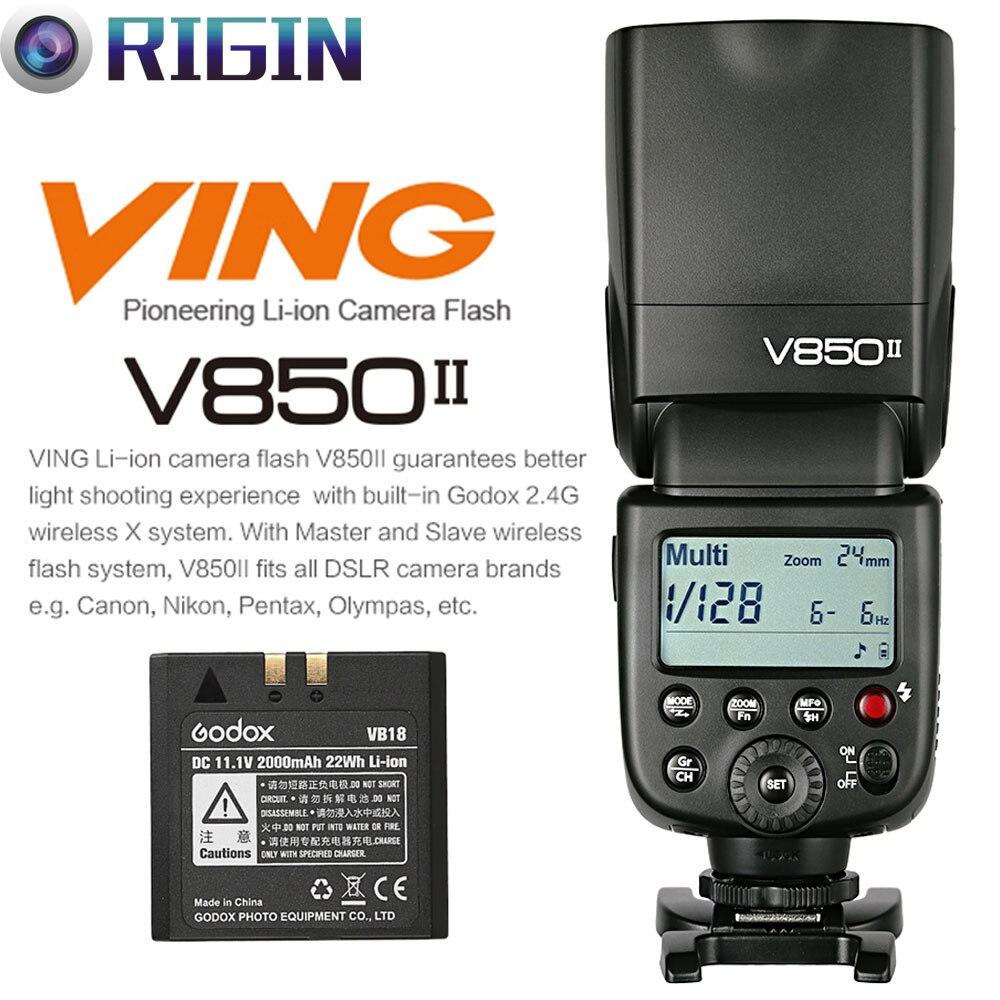 Godox V850ii Gn60 Hss 1 8000s Off Camera Flash Speedlite 2 4g