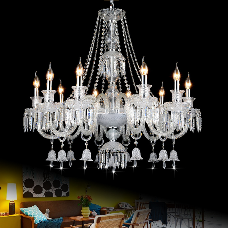 Decorative Hanging Lights Modern Light Living Room Chandelier Crystal Ceiling Mounted Flush Mount Lamp Dining