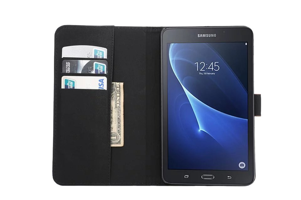 Роскошный модный Чехол-книжка из искусственной кожи с подставкой для Samsung Tab A A6 7,0, чехол для Samsung Galaxy Tab A 7,0, T280, T285, SM-T285-3