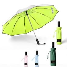 10 K Windproof Reverse Umbrella For Men Auto Business Car Anti-UV Women Fold Sun Automatic Male Paraguas