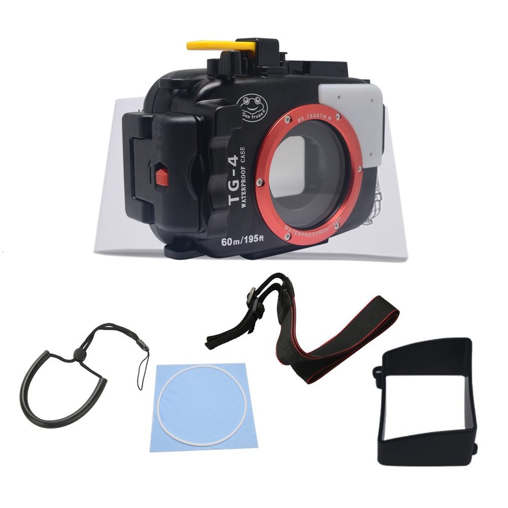 Mcoplus Waterproof case housing 40M Underwater Diving Waterproof Camera case bag for Olympus TG4 TG-3 TG-4 TG3 lg 1 lg1 led light quide macro ring auxiliary flash for olympus tough tg 1 tg 2 tg 3 tg 4 tg 5 tg1 tg2 tg3 tg4 tg5 camera