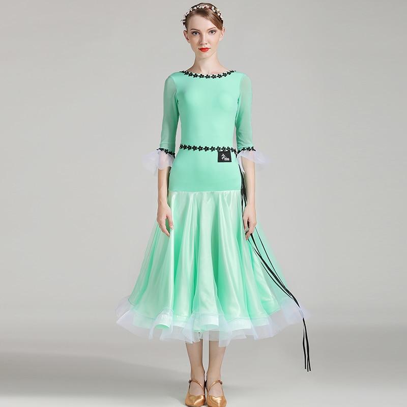 Ballroom Dance Dresses Clothes Competition Standard Waltz Flamenco Spanish