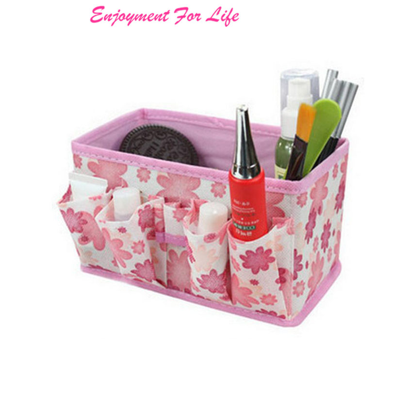 Makeup Cosmetic Storage Bag New Arrival High Quality Hot Sale Bright Organiser Foldable Stationary Container Pink Nov 18