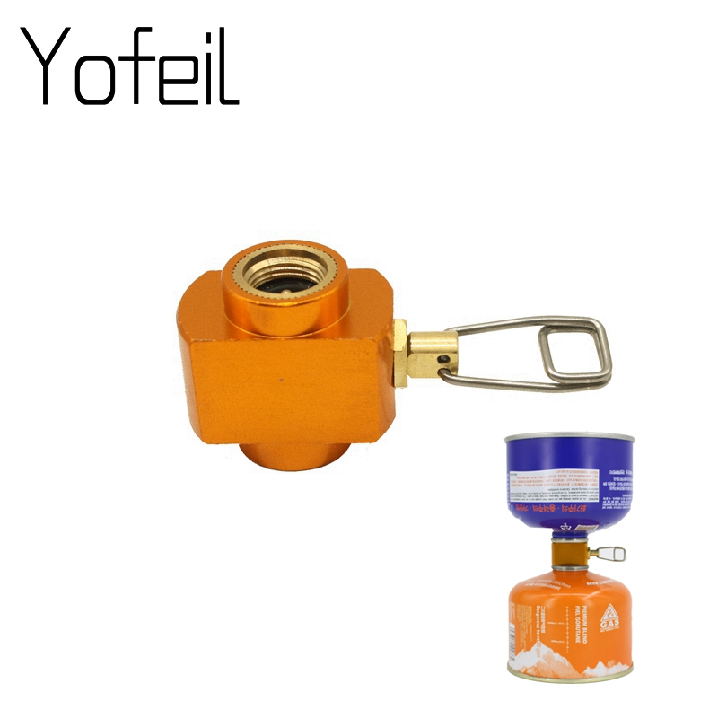 Outdoor Camping Stove Adaptor Conversion Split Type  Furnace Connector Cartridge Tank Gas Filling Adapter Gas Cylinder Adapter