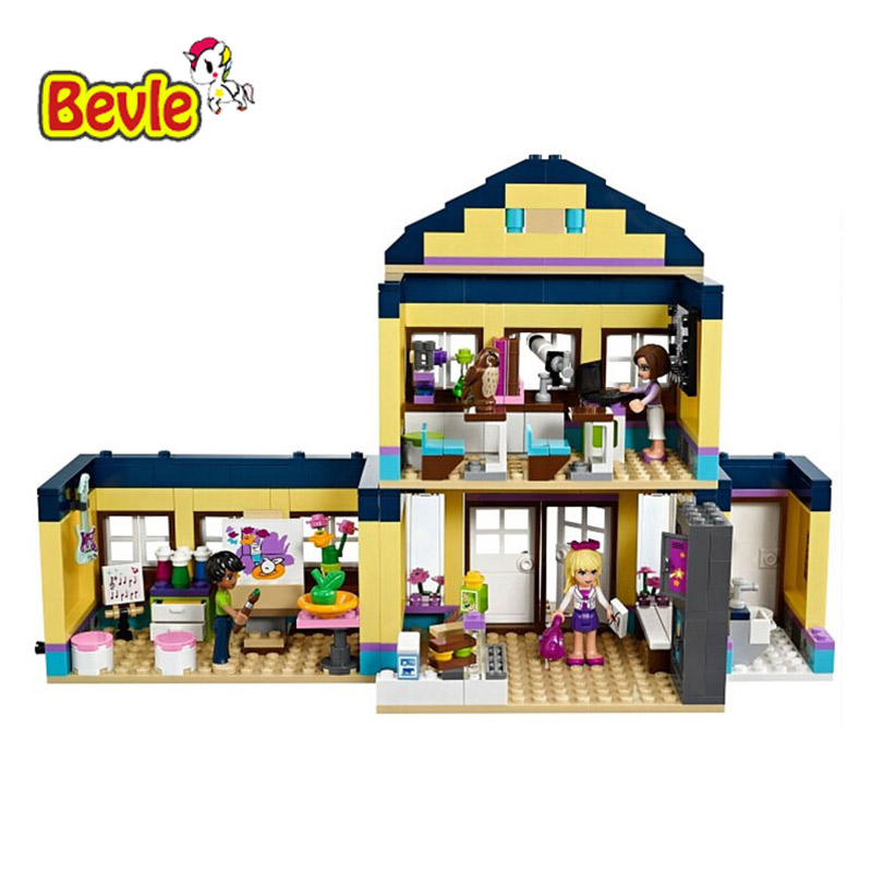 Bevle Bela 10166 Friends City High School Toys Gift Building Block Toys Compatible with LEPIN 41005 lepin 22001 pirate ship imperial warships model building block briks toys gift 1717pcs compatible legoed 10210