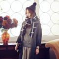 Autumn winter sping lady scarf Classic  Black and white plaid cashmere cashmere winter super thick air conditioning shawl scarf