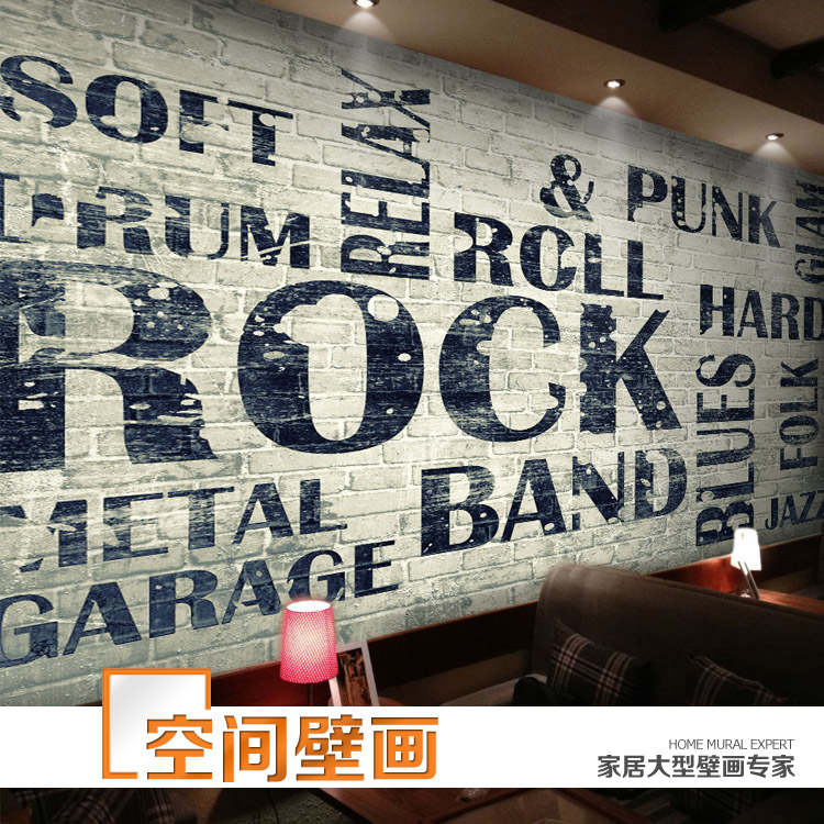 Buy restaurant cafe dimensional retro for Classic mural wallpaper