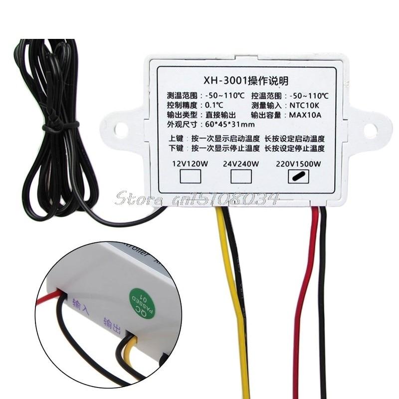 220 V skaitmeninis temperatūros valdiklis 10A termostato valdymo - Matavimo prietaisai - Nuotrauka 2