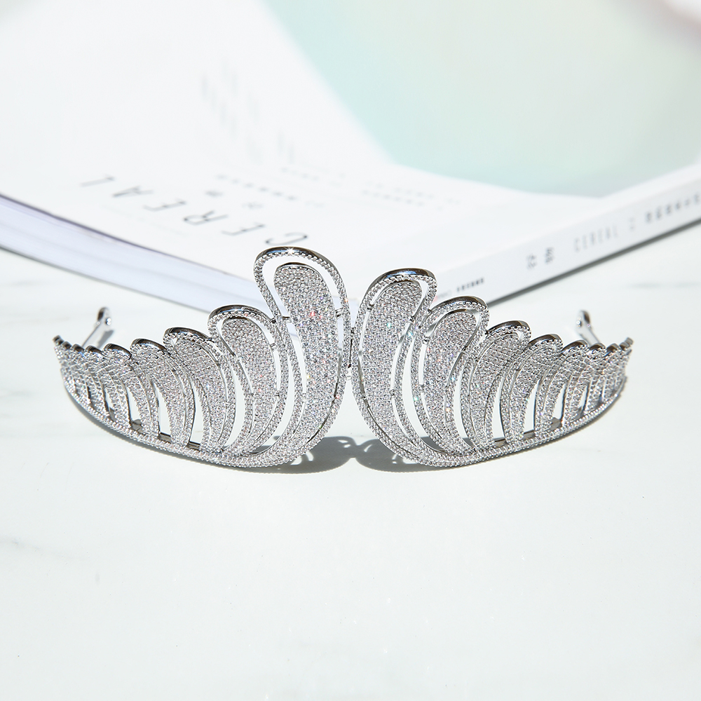 Parmalambe Delicate Petite Zircon High Quality Silver Hair Tiaras Hair Jewelry Bridal Headpieces Crown Wedding Hair Accessories цена
