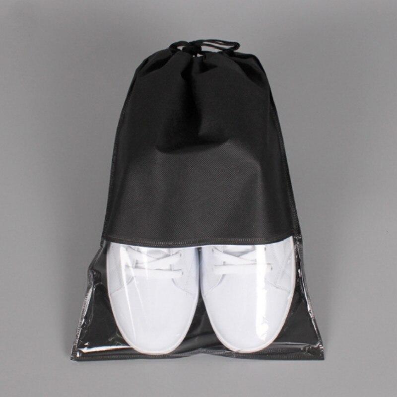 Non-Woven Fabric Women Men Shoes Bag Portable Travel Dustproof Laundry Organizer Drawstring Bag Pouch