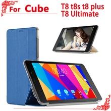 Чехол из искусственной кожи для 8 дюймов cube T8 t8s t8 plus T8 Ultimate tablet pc, высококачественный чехол для cube Free Young X5