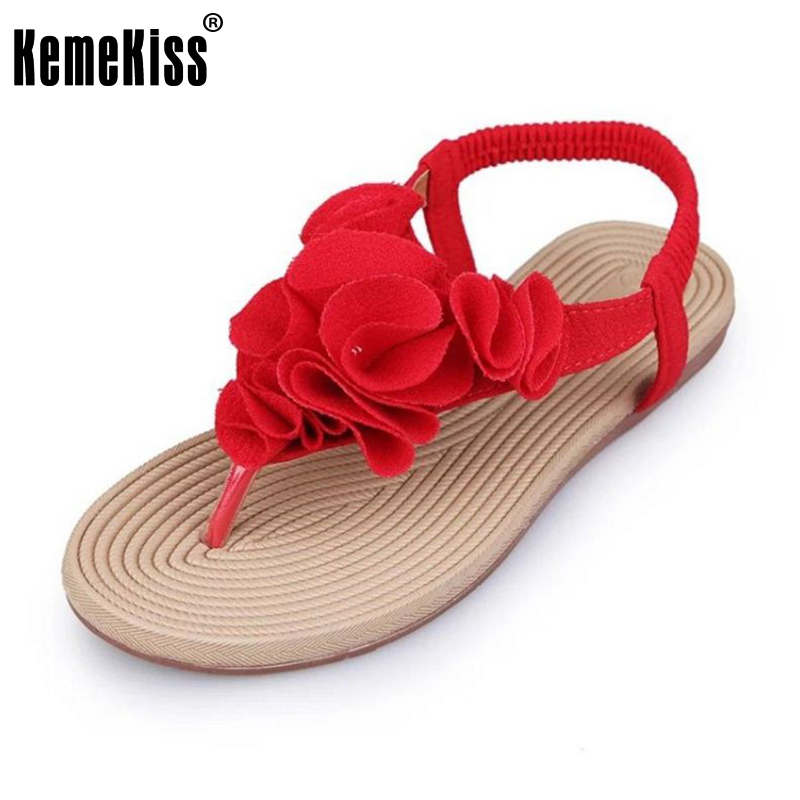 New Arrived Summer Women Sandals Flip Flats Flower Sample Slip On Leisure Shoes Women Solid Fashion Sandal Footwear Size 36-40 pink vietnam sandals flats female summer outdoor leisure shoes