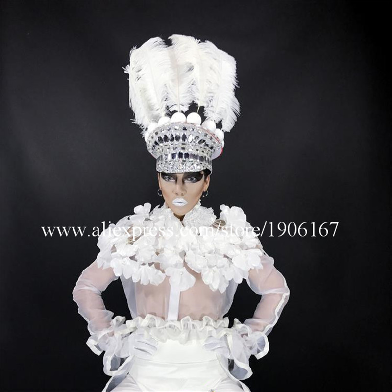 New Design Hot Cheap Price Sexy Girl Stage Performance Clothes Headwear Costumes for DJ Singer KTV Set Stage Show