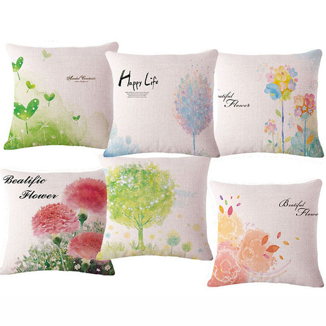 "Pastoral Fresh Super Quality Garden Sofa Home sofa Bedding Decorative Cushion With no Core Pillow 17"" Linen Cojin"