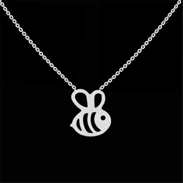 Online shop dainty cute honey bee pendant necklace gold silver dainty cute honey bee pendant necklace gold silver color stainless steel women jewelry bumblebee collar colar choker chain gift aloadofball Choice Image