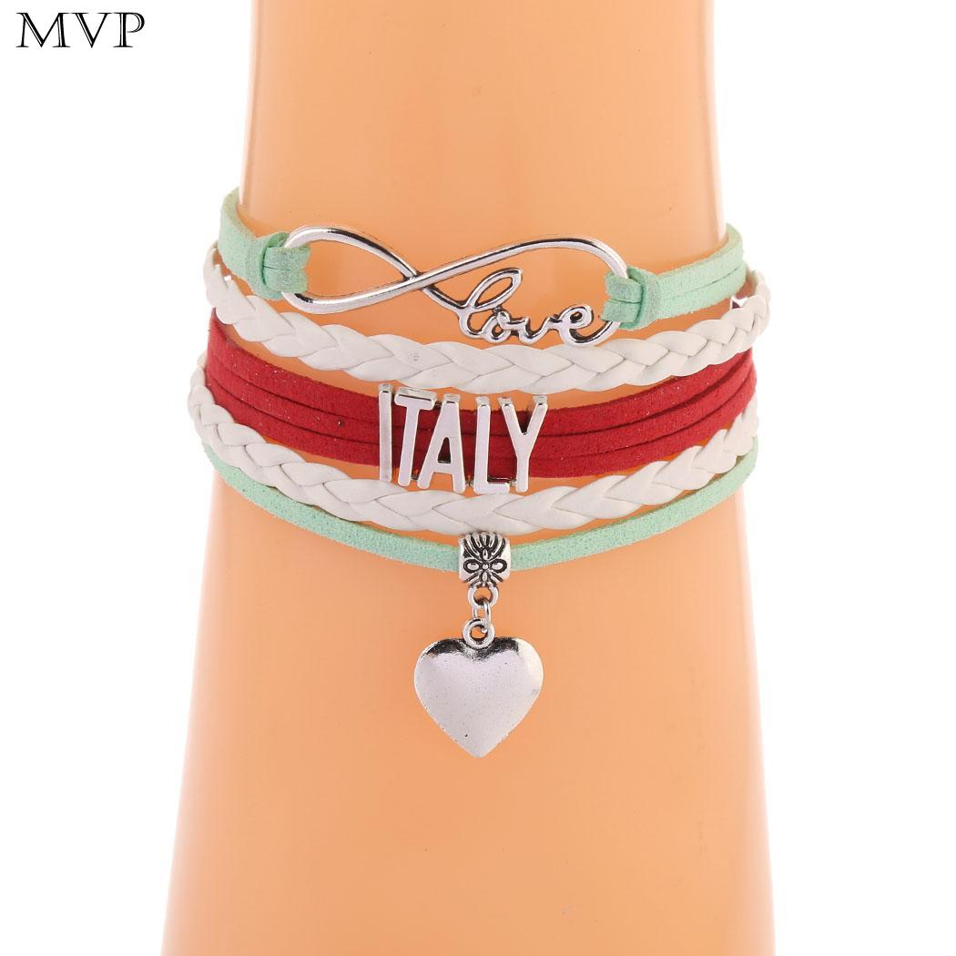 Jewelry & Accessories Orderly Etc Bracelet Infinity Italy Charm Casual Bracelets Letter Handmade Heart Beach Men Women Italy Love Braided Party Diversified Latest Designs