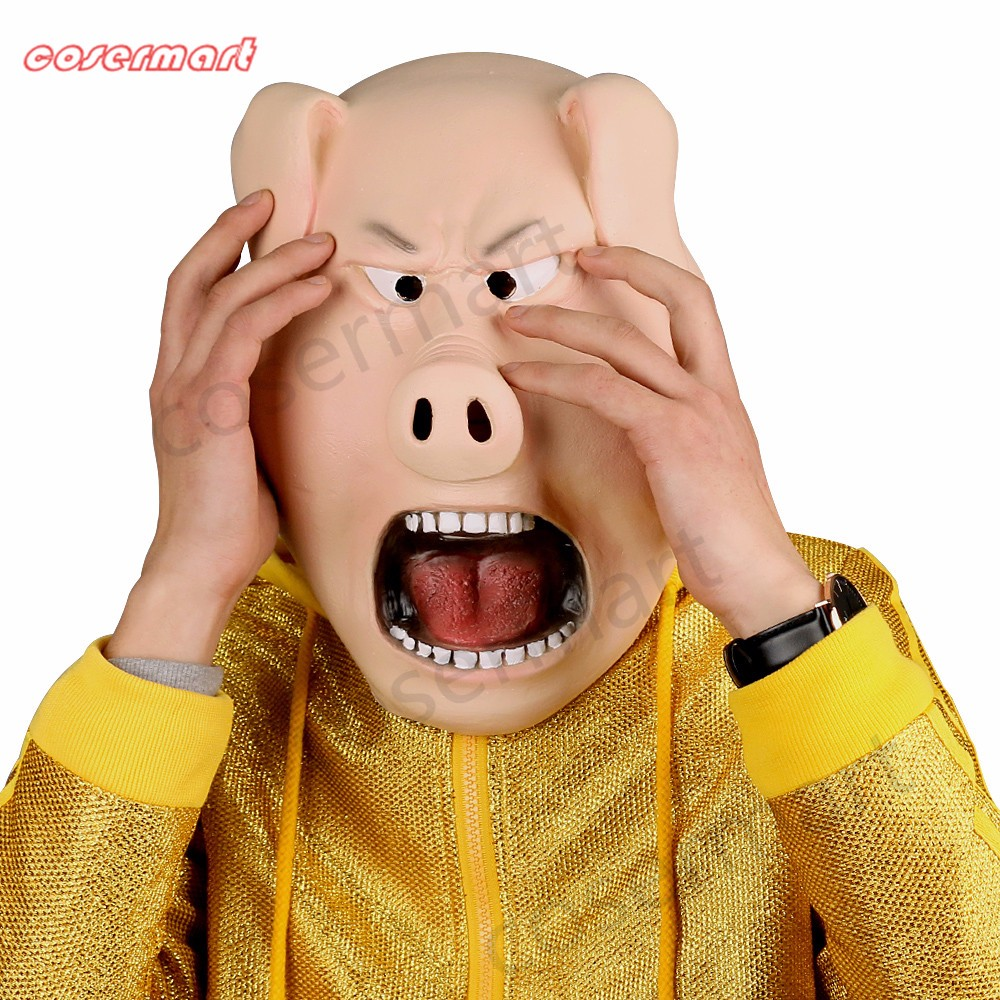 2016 Movie Sing Cosplay Porcupine Ash Latex  Mask Pig  Animal Mask Halloween Party (9)