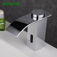 NIENENG sensor faucets bathroom sink faucet cold water basin mixer restaurant tap automatic hospital taps fitment ICD60237