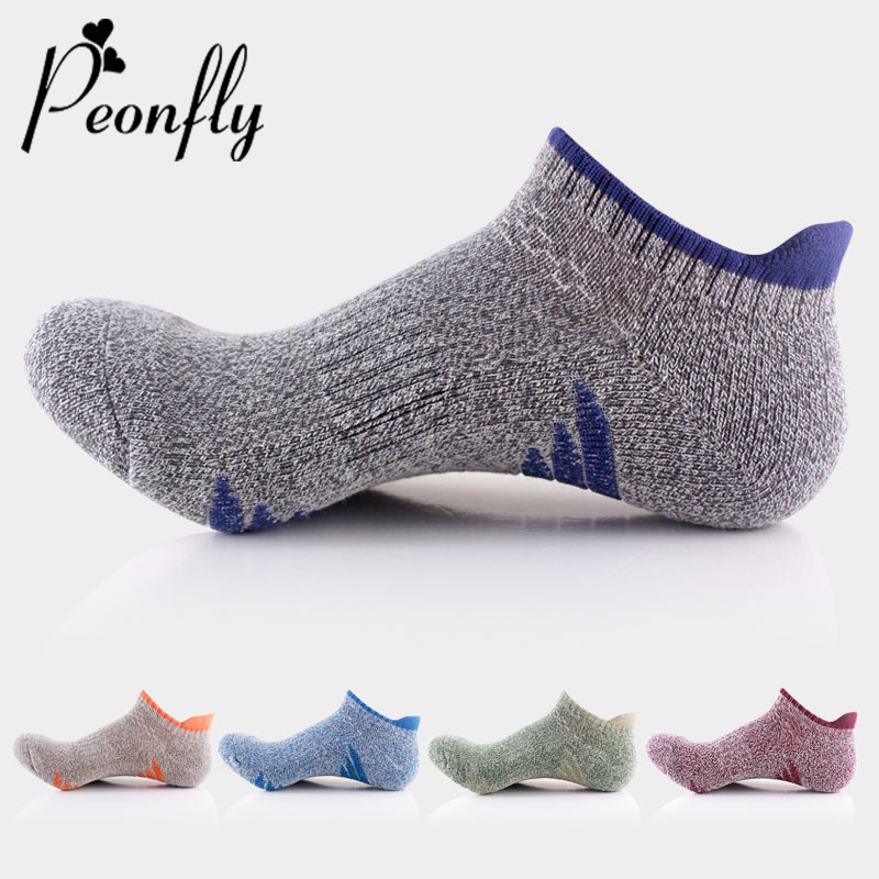 PEONFLY Men Casual Cotton Short Socks Fashion Stripes Socks Cosy Mountaineering Socks Breathable Quick-drying Male Ankle Socks