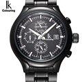 IK Автоматические Мужские часы  самовсасывающие Механические Многофункциональные часы с датой недели  мужские наручные часы в деловом стил...