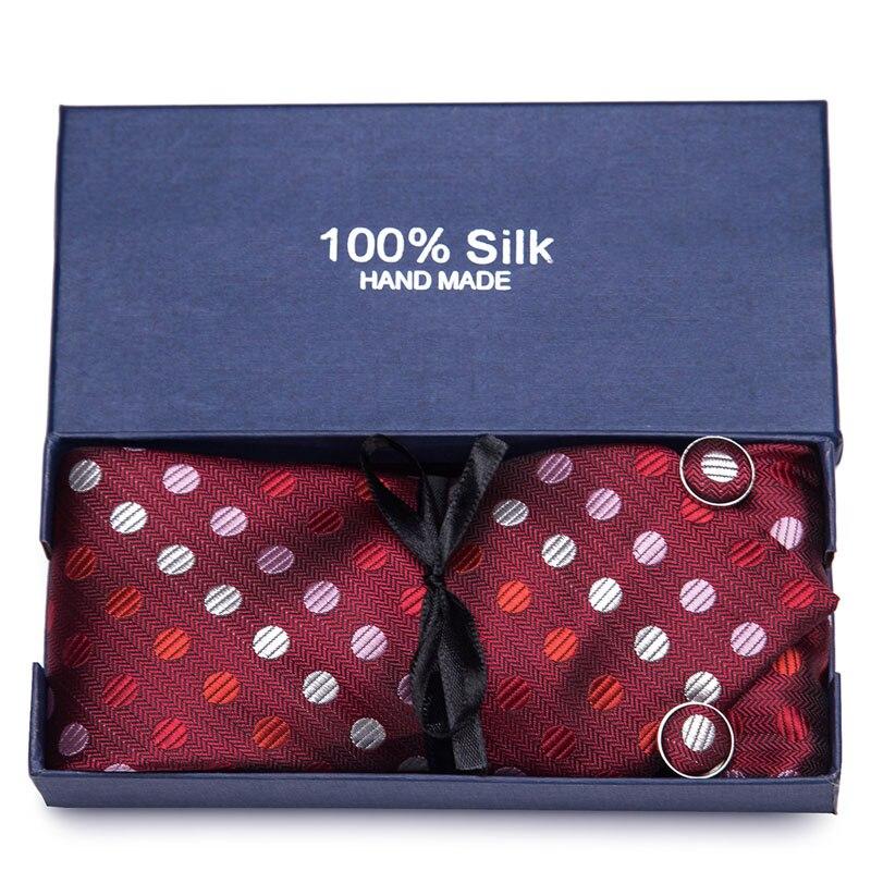 New 4pcs set 100 Silk ties Men 39 s Ties fashion Necktie set Plaid Stripe Mans Tie Necktie with gift box Extra long size 145 7 5cm in Men 39 s Ties amp Handkerchiefs from Apparel Accessories