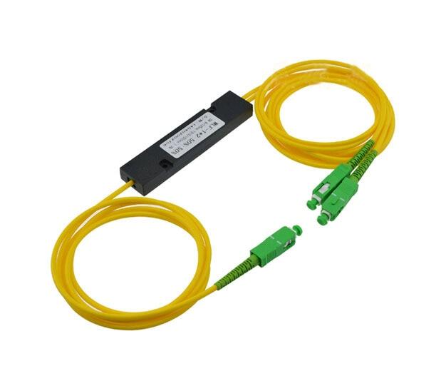 SCAPC 1X2 PLC Singlemode Fiber Optical Splitter FTTH PLC SCAPC 1x2 PLC Optical Fiber Splitter FBT Optical Coupler Free Shipping
