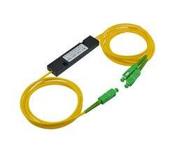 Scapc 1x2 PLC одномодовый Волокно оптический разветвитель FTTH PLC scapc 1x2 PLC оптический Волокно Splitter FBT оптический разветвитель Бесплатная доставка