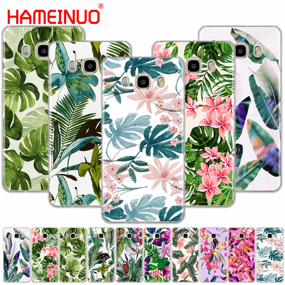 HAMEINUO Tropical Green Leaves Floral cover phone case for Samsung Galaxy J1 J2 J3 J5 J7 MINI ACE 2016 2015 prime