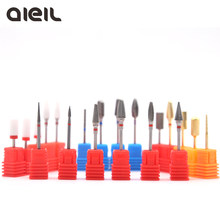 Ceramic Milling Cutter Manicure Machine Carbide Nail Drill Bits Ceramic Carbide Milling Cutters For Manicure Nail Ceramic Cutter(China)