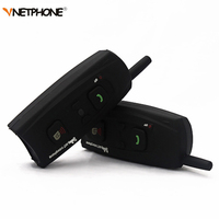 V2 1200 Earphone Motorcycle Intercom Bluetooth Helmet Headset 1000M 2 Riders Moto Communication BT Interphone Wireless