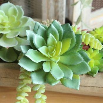 Sztuczne soczyste rośliny Lotus krajobraz dekoracyjny kwiat Mini zielone sztuczne sukulenty ogród Bonsail sztuczne dekoracje tanie i dobre opinie Wusmart 1 pc Pulpit
