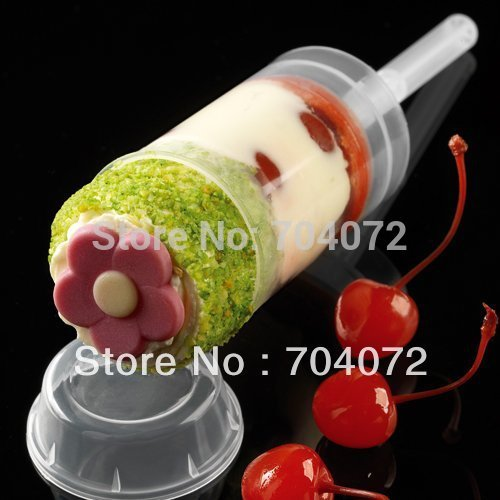 2015 Real Transport Tools Wholsesale -  Empty Push Up Pop Cake Containers for Cupcake Shooters with Lid 50pcs/lot