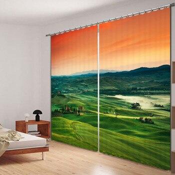 Modern Luxury Fantasy Vast grassland 3D Blackout Window Curtains For Bedding room Living room Hotel Drapes Cortinas