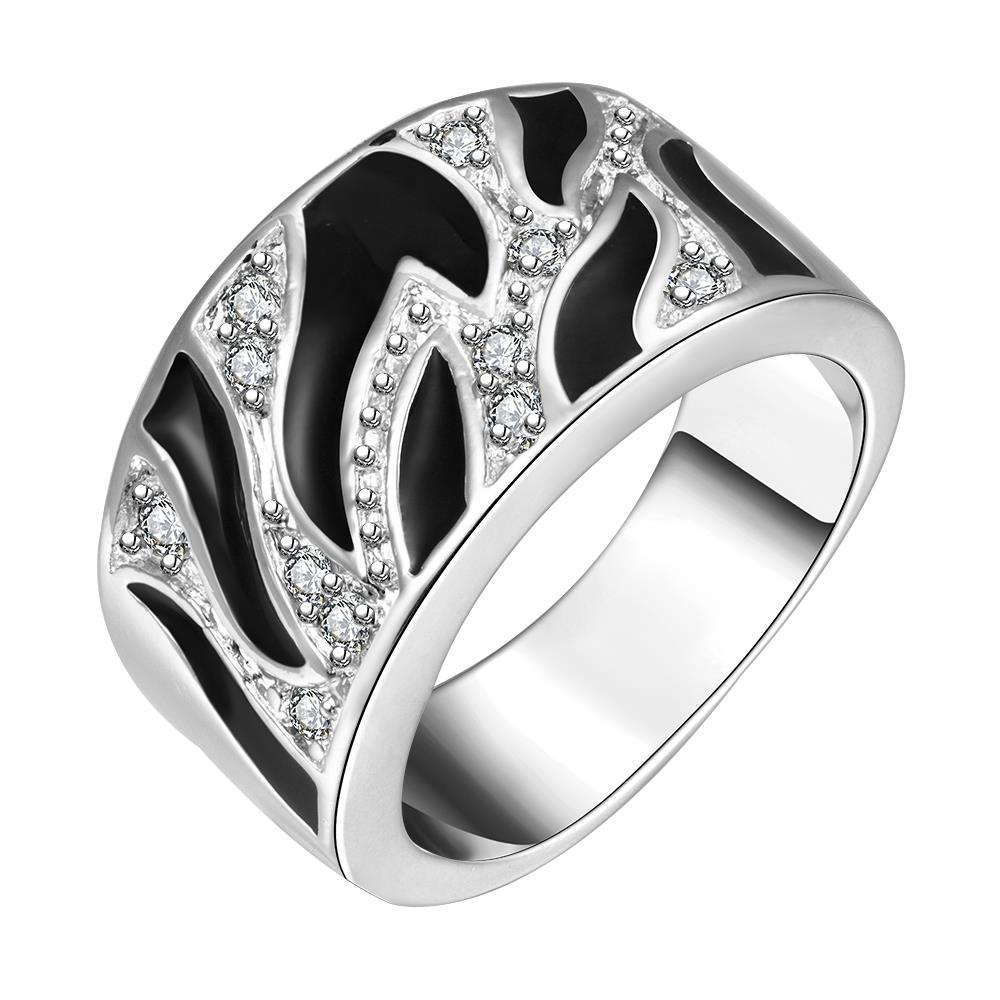 Rings For Women Stainless Steel 8 Silver Plated Silver plated R271-8 Silver plated design finger ring for lady
