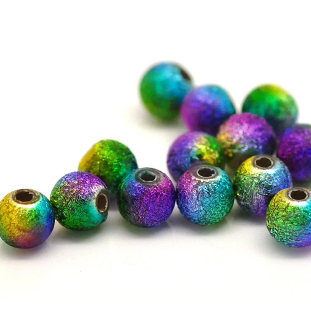 DoreenBeads ювелирные изделия Акриловые разделительные бусины шар Многоцветный около 6 мм (2/8 «) Диаметр, отверстие: около 1,2 мм, 40 шт. Новинка 2017 года