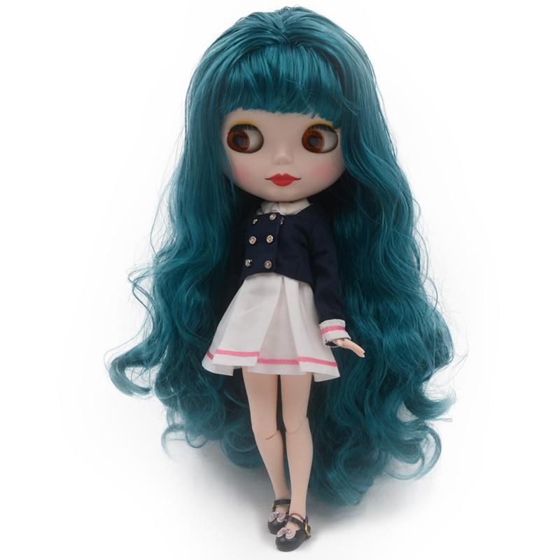 Nude Doll تشبه دمية Blyth BJD ، يمكن تغيير الماكياج والدمى البولندية حسب الطلب من DIY ، دمى 12 بوصة ذات كرة مشتركة
