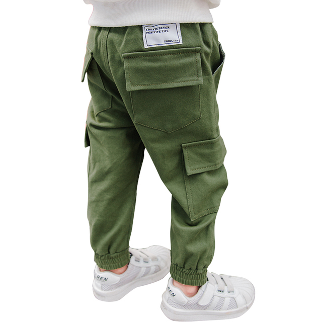 3e95b07768 new fashion spring autumn 4-10 years old Boys cargo pants children pants  baby pockets trousers child Bottoms