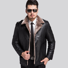 Russian Winter Leather Jackets Men Faux Fur Coats Men's Leather Jacket Casual Motorcycle Leather Jacket Thicken Overcoat For Man
