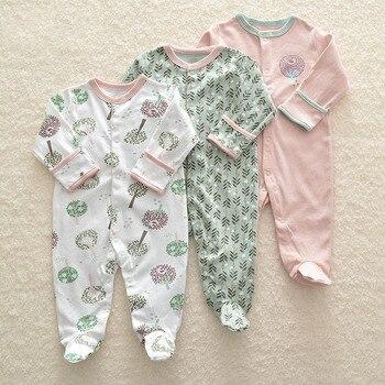 8a3147bce 3 piezas recién nacido bebé niña mameluco invierno Bebé niño mono ropa 100% algodón  ropa interior mamelucos ropa de bebé traje de abrigo