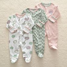 Комбинезон для новорожденных девочек 3 шт., зимний комбинезон для маленьких мальчиков, 100% хлопковое нижнее белье, комбинезоны, одежда, детские комбинезоны, теплый костюм
