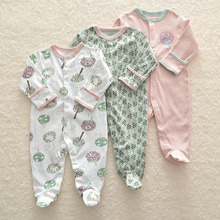 3Pcs Newborn Baby Girl Romper Winter Baby Boy Jumpsuit Clothes 100 Cotton Underwear Rompers Clothing Baby Rompers Warm Costume cheap liplify Floral O-Neck Covered Button Unisex Full Fits true to size take your normal size 3M-6M-9M-12M Spring Autumn Early Winter
