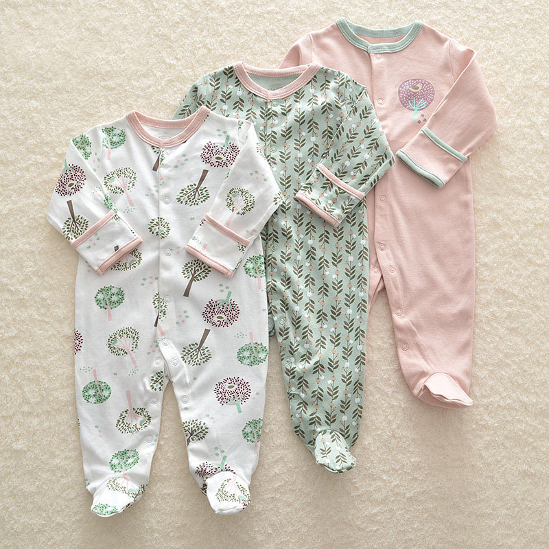 3Pcs Newborn Baby Girl Romper Winter Baby Boy Jumpsuit