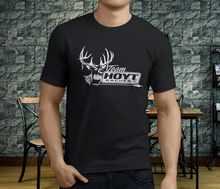 New Popular Team Hoyt Archery Mens Black T-Shirt S-3XLLoose Men T shirts Homme Tees