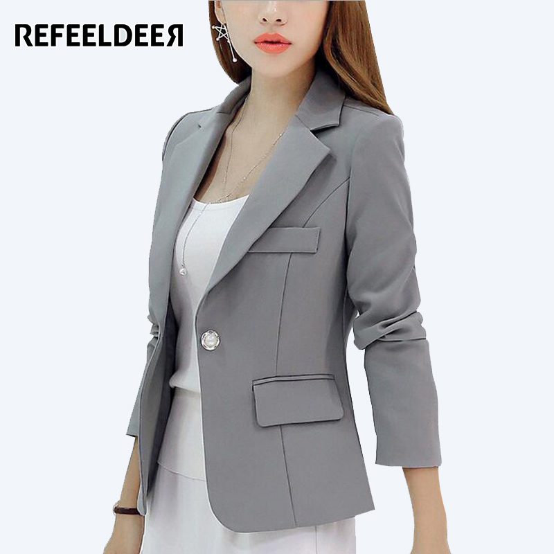 99aa949a297e4 Buy Cheap Ladies Blazers 2016 New Fashion Single Button Blazer Women Suit  Jacket Green Yellow Black Blaser Female Plus Size Blazer Femme Price