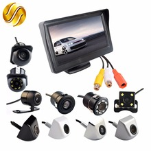 2In1 Car Parking System Kit 4.3″ TFT LCD Color Monitor HD Display Screen + Rear View Camera Waterproof Backup