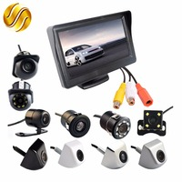 4 3 Inch Auto Parking System HD Car Rearview Mirror Monitor With 170 Degrees Waterproof Car