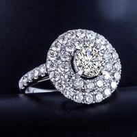 Роскошные GIA Diamond для женщин обручальное кольцо 1,51 + 2.272ct природных алмазов ювелирные изделия 18 К белого золота или платины ручной работы обр