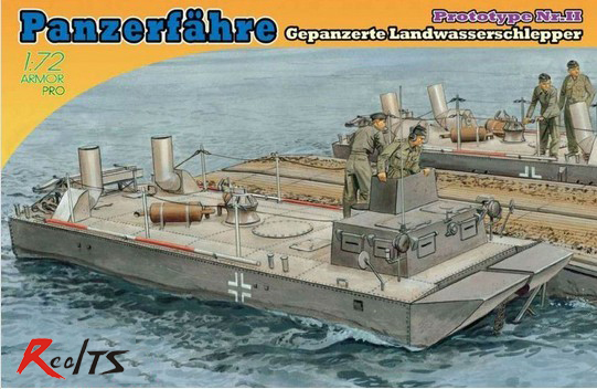 RealTS Dragon Model Kit - Panzerfahre Prototype Nr.II Boat - 1:72 Scale - 7490 - NEW