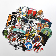 100 pcs Mixed stickers Toy styling funny sticker Motorcycle Bike Travel Doodle accessory cover detector decal sticker